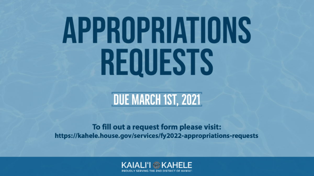 Appropriations Requests